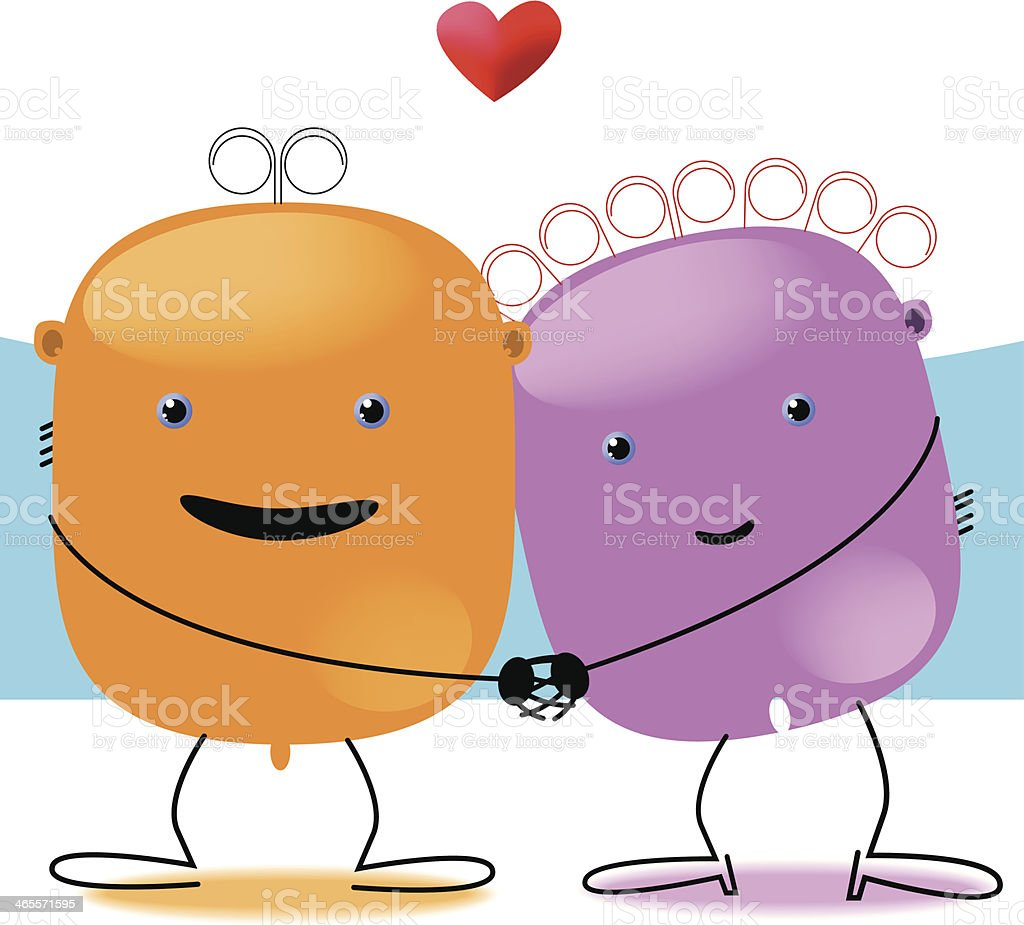 Mr. and Mrs. Kawaii in love royalty-free mr and mrs kawaii in love stock vector art & more images of adult