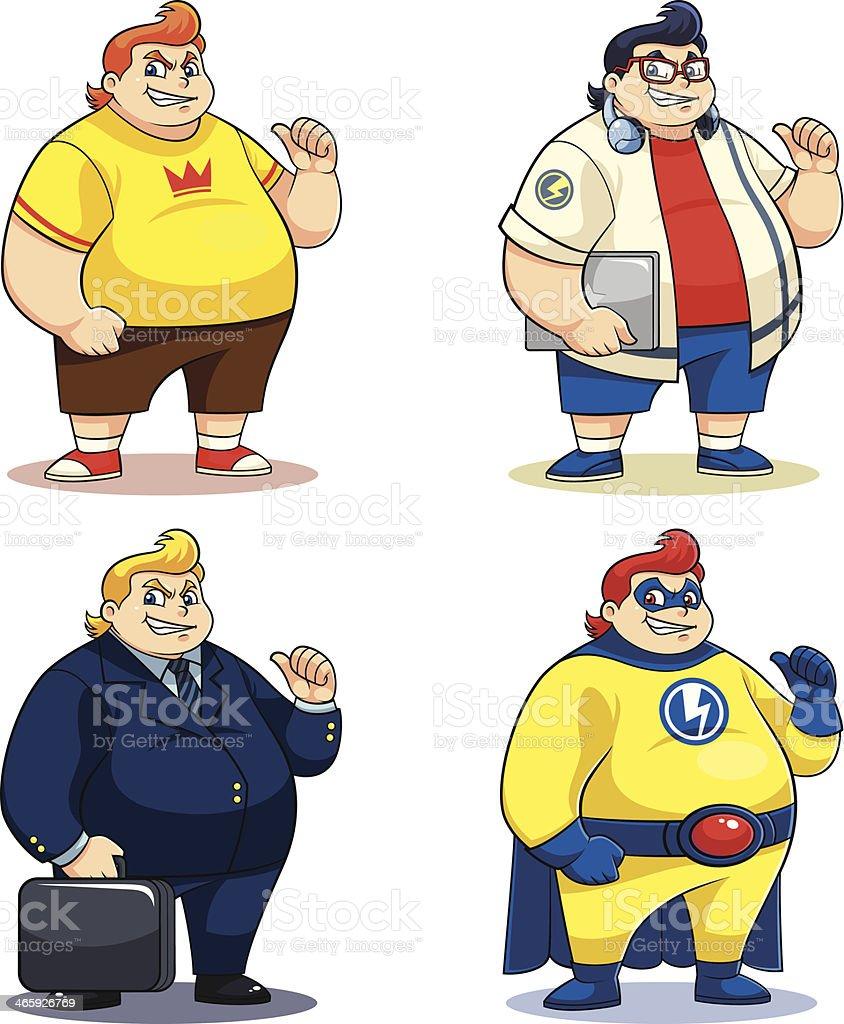 Mr. Bigger Characters royalty-free stock vector art