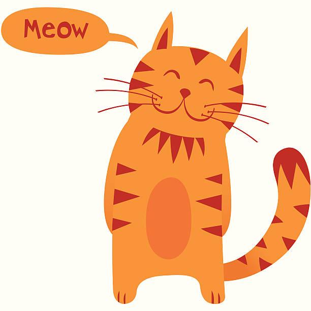 stockillustraties, clipart, cartoons en iconen met mr cat - miauwen