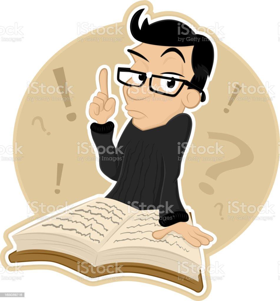 Mr FAQ vector art illustration