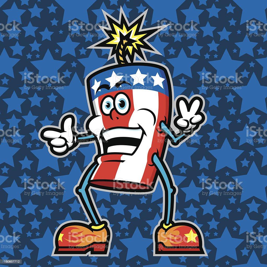 Mr. Fire Cracker vector art illustration