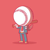 istock Mr. Home Run vector illustration. 1303388633