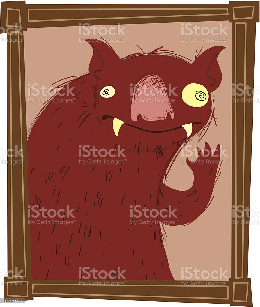 Mr. Monster Portrait royalty-free stock vector art