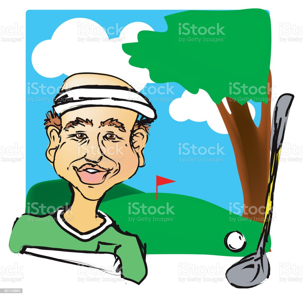 Mr. Putt Putt royalty-free mr putt putt stock vector art & more images of adult