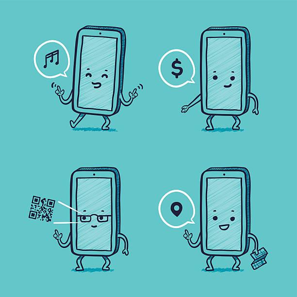 Herr Smartphone-Aktivitäten – Vektorgrafik