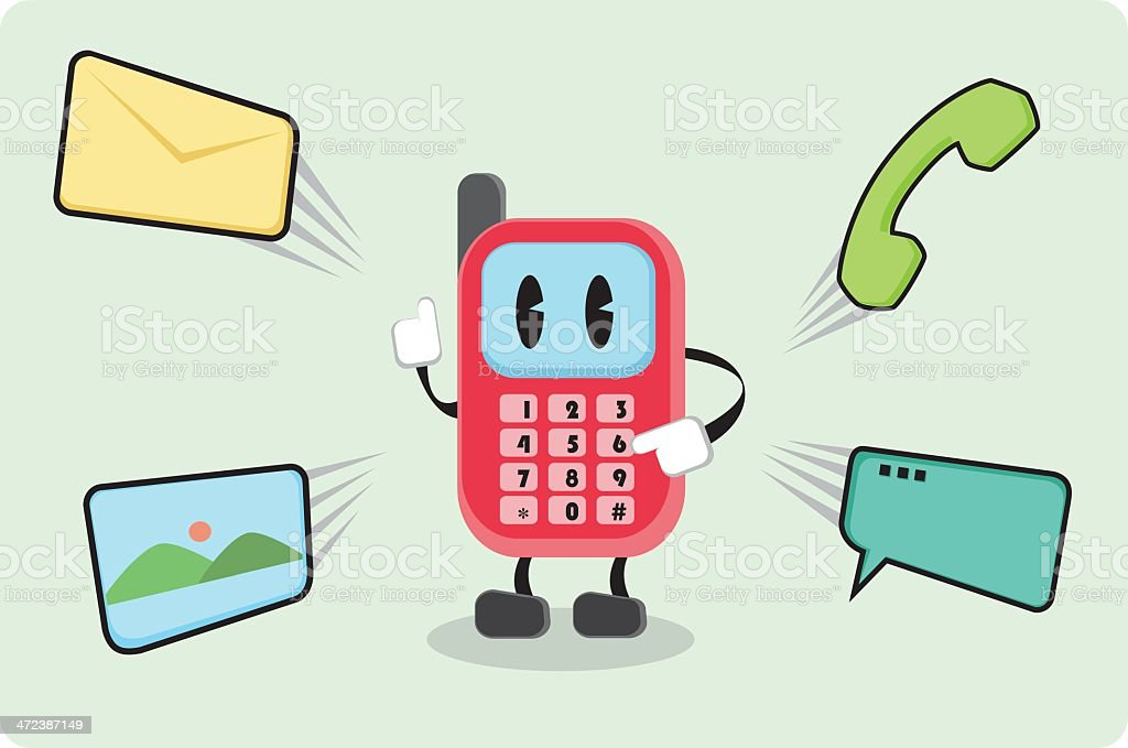 Mr. Smartphone vector art illustration