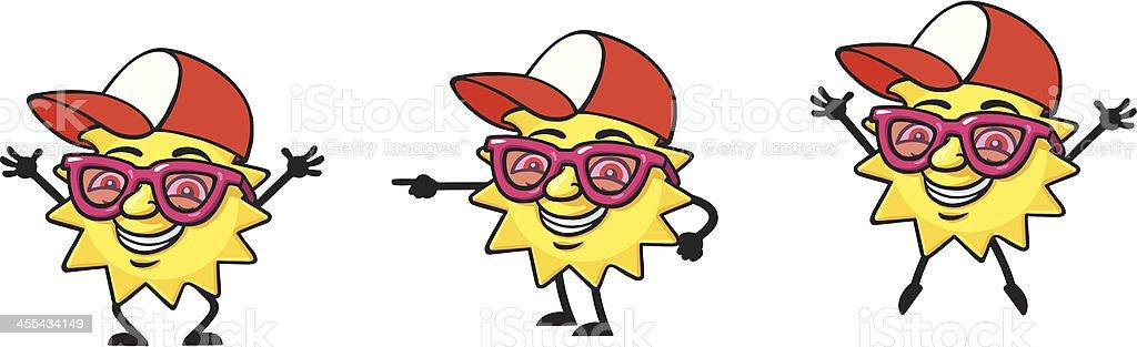 Mr Sun vector art illustration