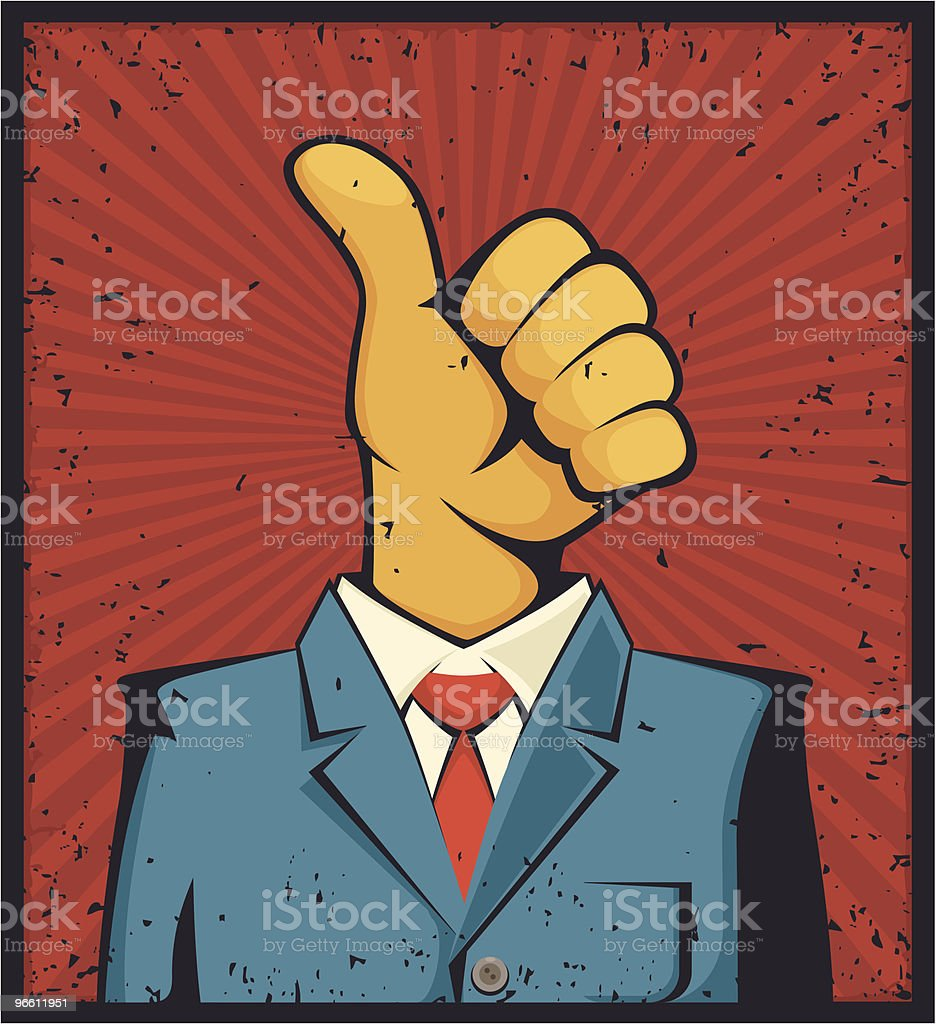 mr thumbs up - Royaltyfri Affärsman vektorgrafik