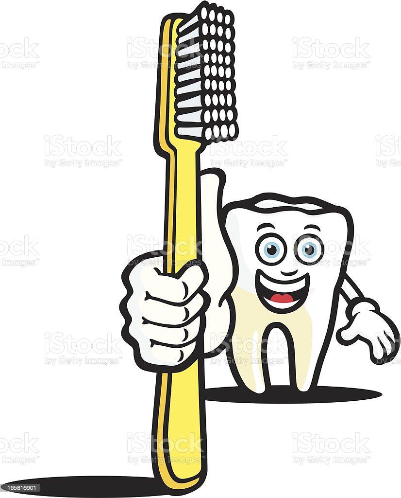 Mr Tooth vector art illustration