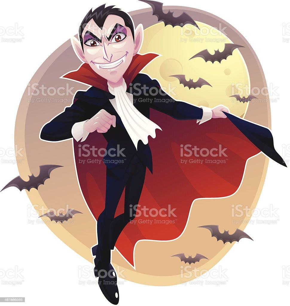 Mr. Vampire vector art illustration
