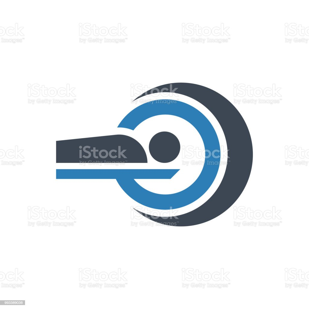 Mri Scan Icon vector art illustration