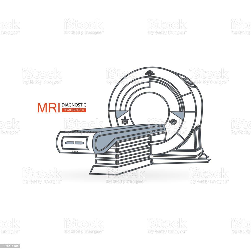 mri vector art illustration