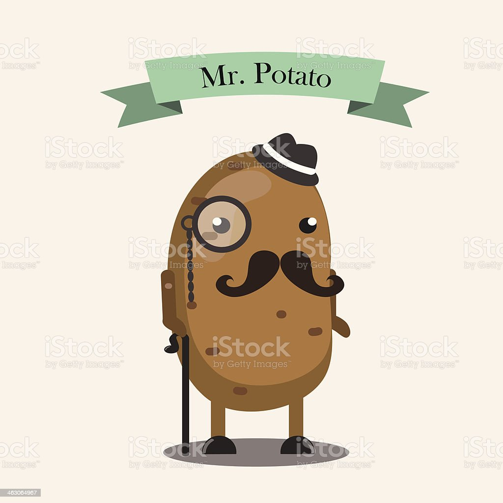 Mr.Potato character vector art illustration
