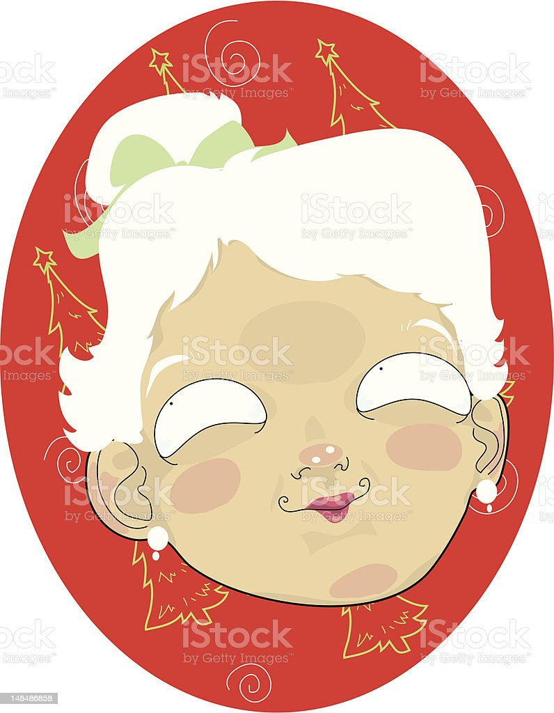 Mrs.Claus royalty-free stock vector art