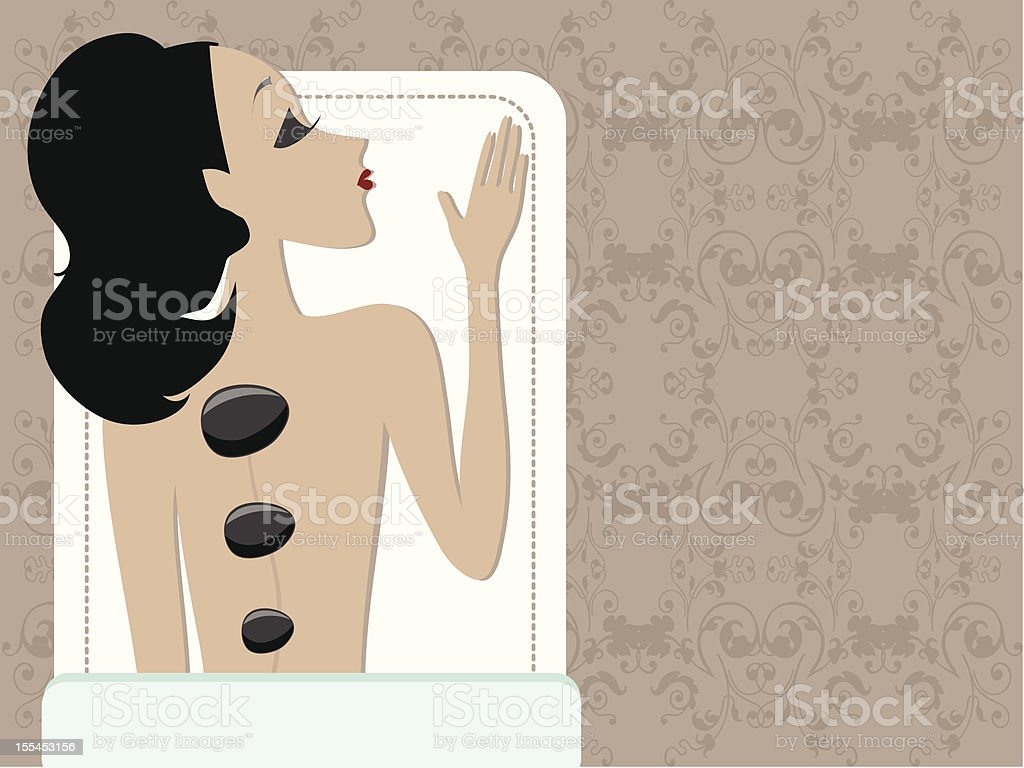 Mss Boo at Spa royalty-free stock vector art