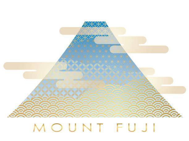富士山は、日本の文様、ベクトル図で飾られて。 - 富士山点のイラスト素材/クリップアート素材/マンガ素材/アイコン素材