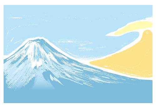 Mt. Fuji scenery in winter