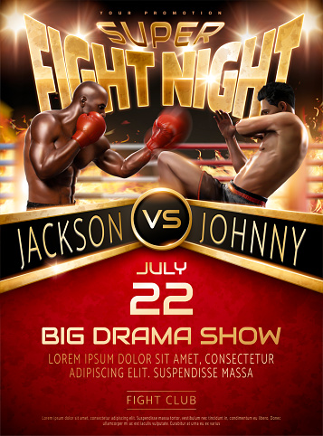 Muay Thai and Boxing fight show