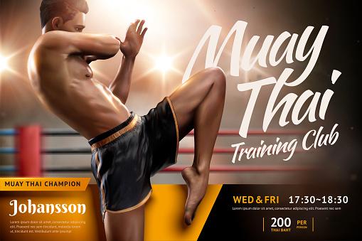 Muay Thai training camp ad design