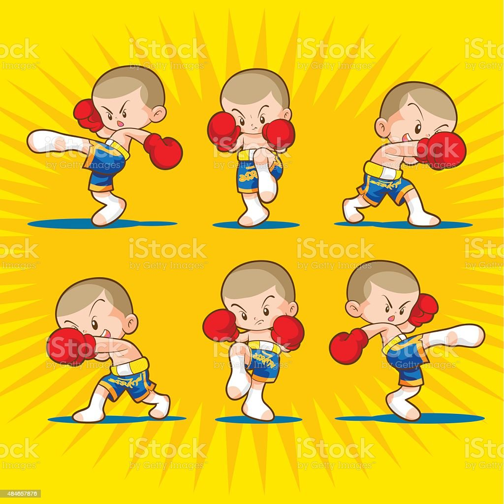 Muaythai Boxing Kids Stock Illustration Download Image Now Istock