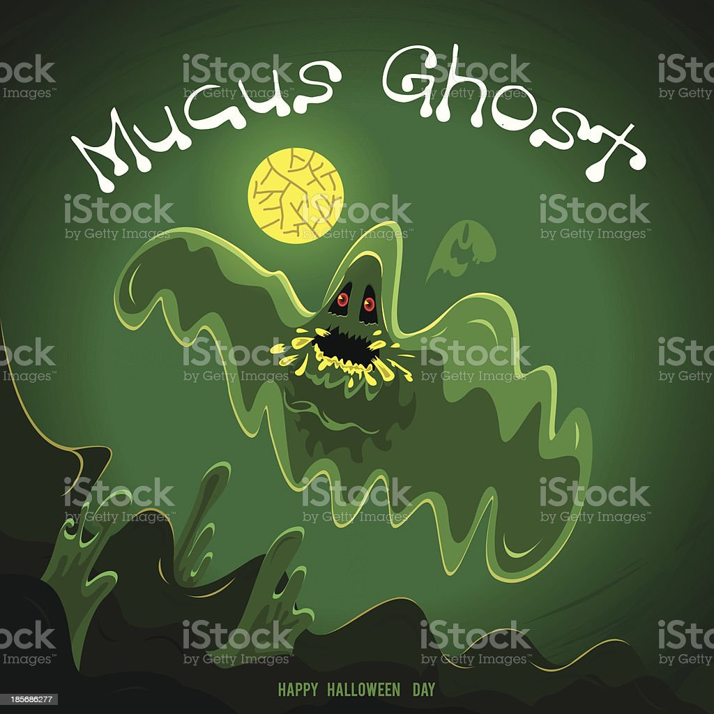 Mucus Ghost royalty-free stock vector art
