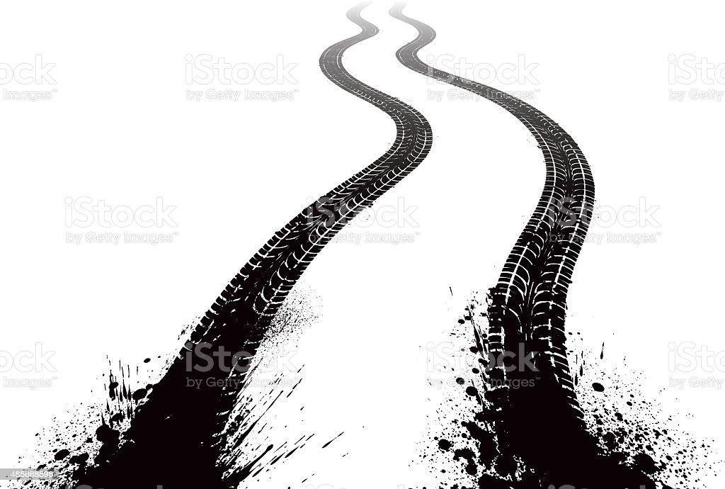 royalty free tire tread marks clip art vector images rh istockphoto com tire tread clipart tire tread clipart free