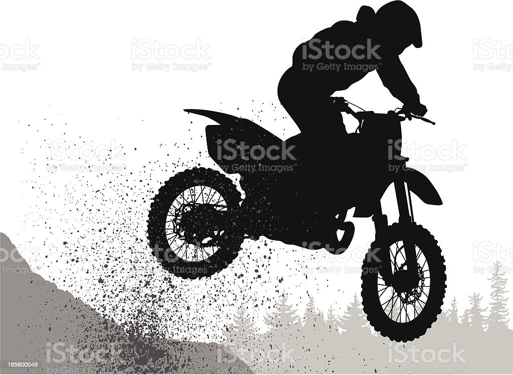 Mud'n Bike Vector Silhouette vector art illustration