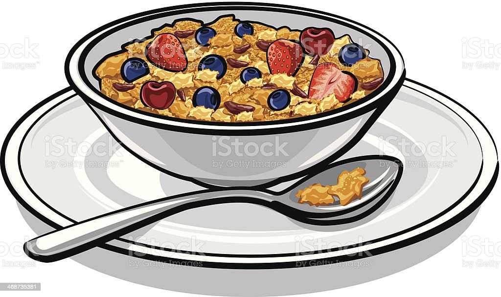 royalty free cereal bowl clip art  vector images eat breakfast clipart free men's breakfast free clipart