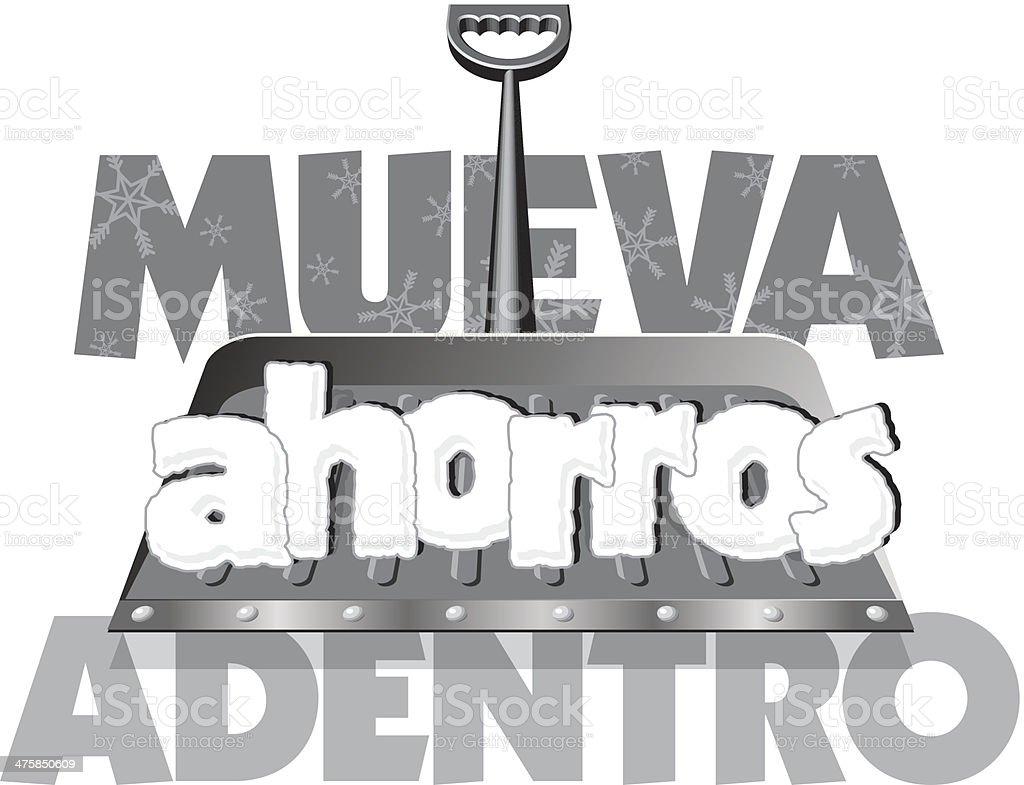 Mueva Heading vector art illustration