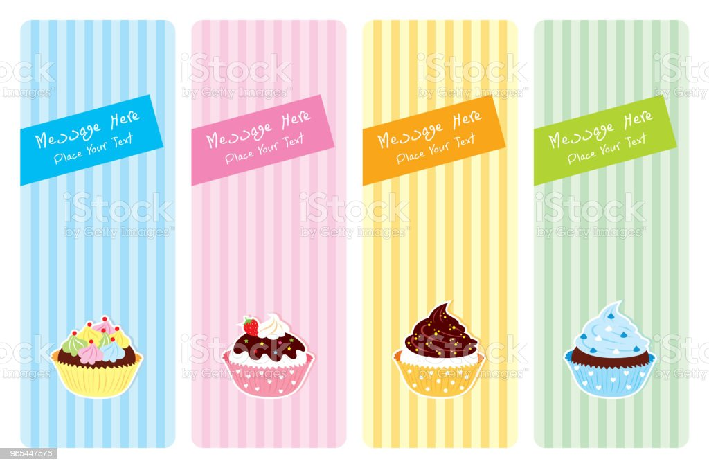 muffin and cupcake greeting card vector royalty-free muffin and cupcake greeting card vector stock illustration - download image now
