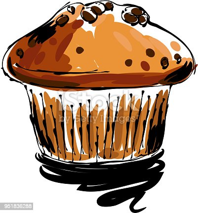 istock Muffin Drawing 951836288