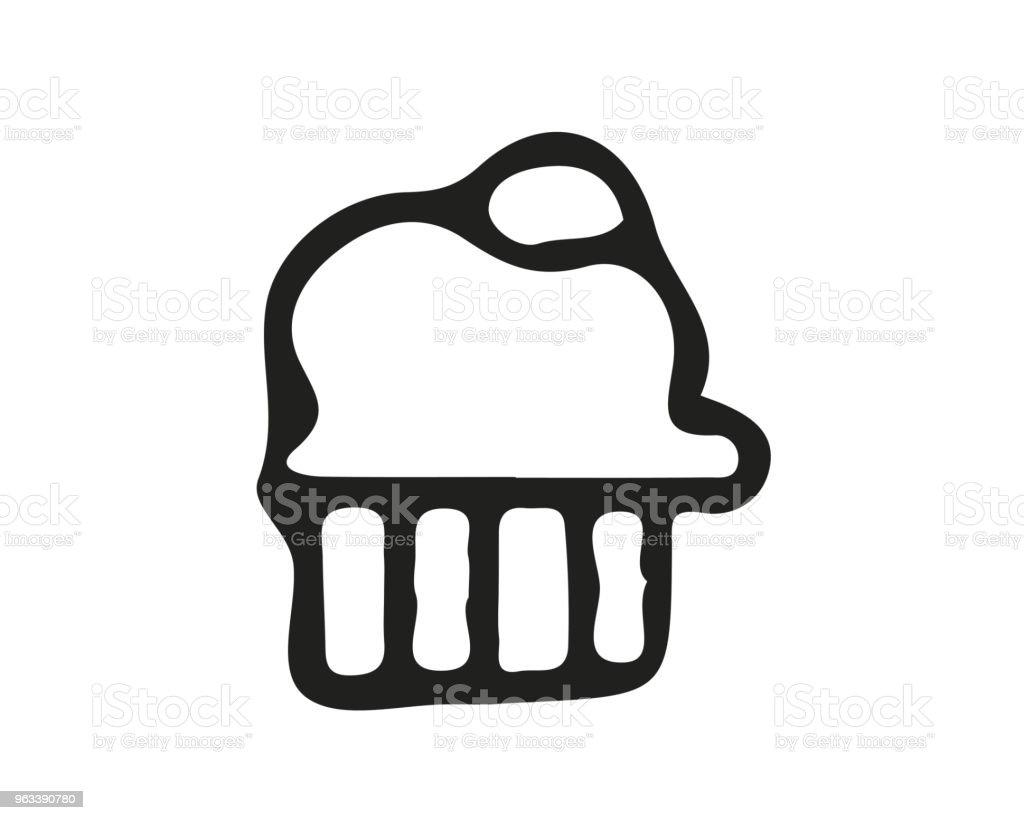 muffin icon design illustration,hand drawn style design, designed for web and app - Grafika wektorowa royalty-free (Bazgroły - Rysunek)