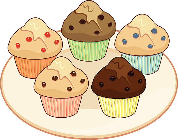 Muffin Selection vector art illustration