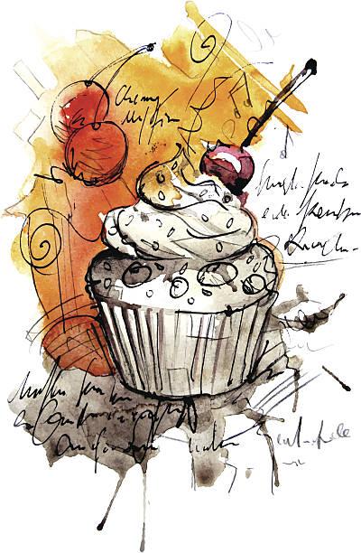 muffin - kuqa stock-grafiken, -clipart, -cartoons und -symbole
