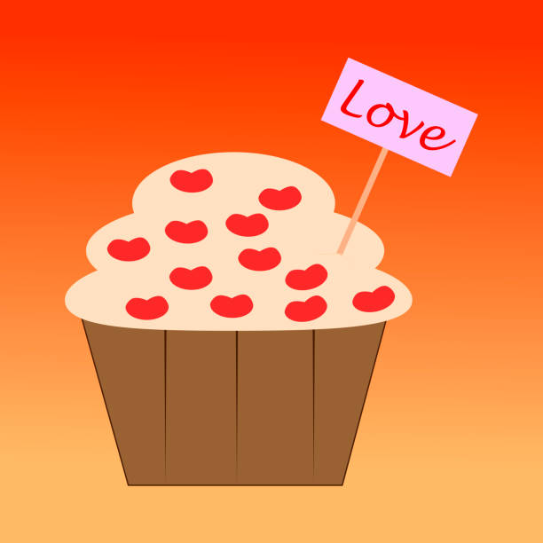 muffin with cherries. - leap year stock illustrations, clip art, cartoons, & icons