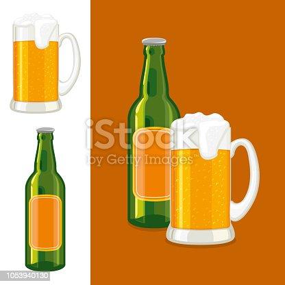 Mug And Bottle of Beer