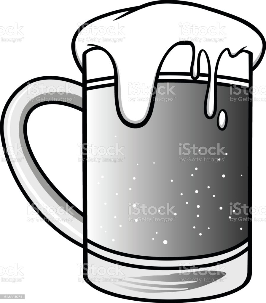 royalty free cartoon of frosty mug beer mug clip art vector images rh istockphoto com clip art beer mugs cheers beer mug clipart free