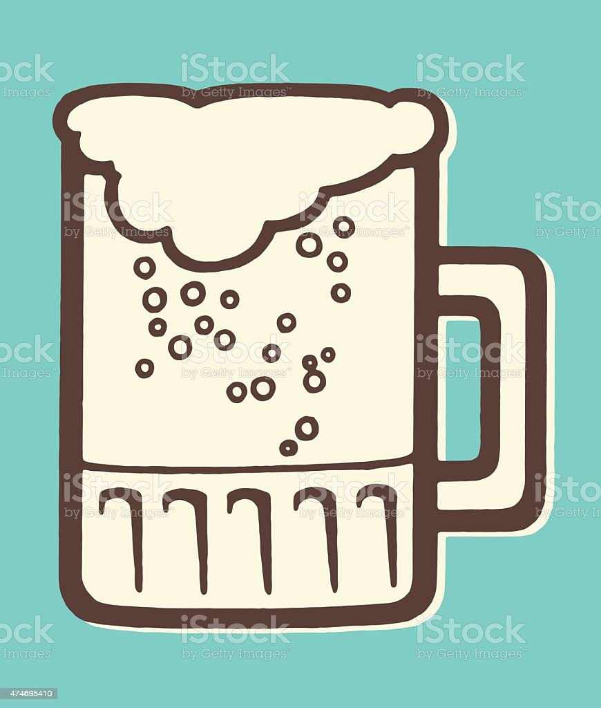 Mug of Beer vector art illustration