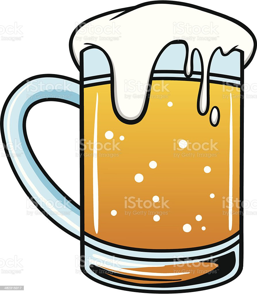 royalty free overflowing beer mug clip art vector images rh istockphoto com beer mug clip art cheers beer mug clip art black and white