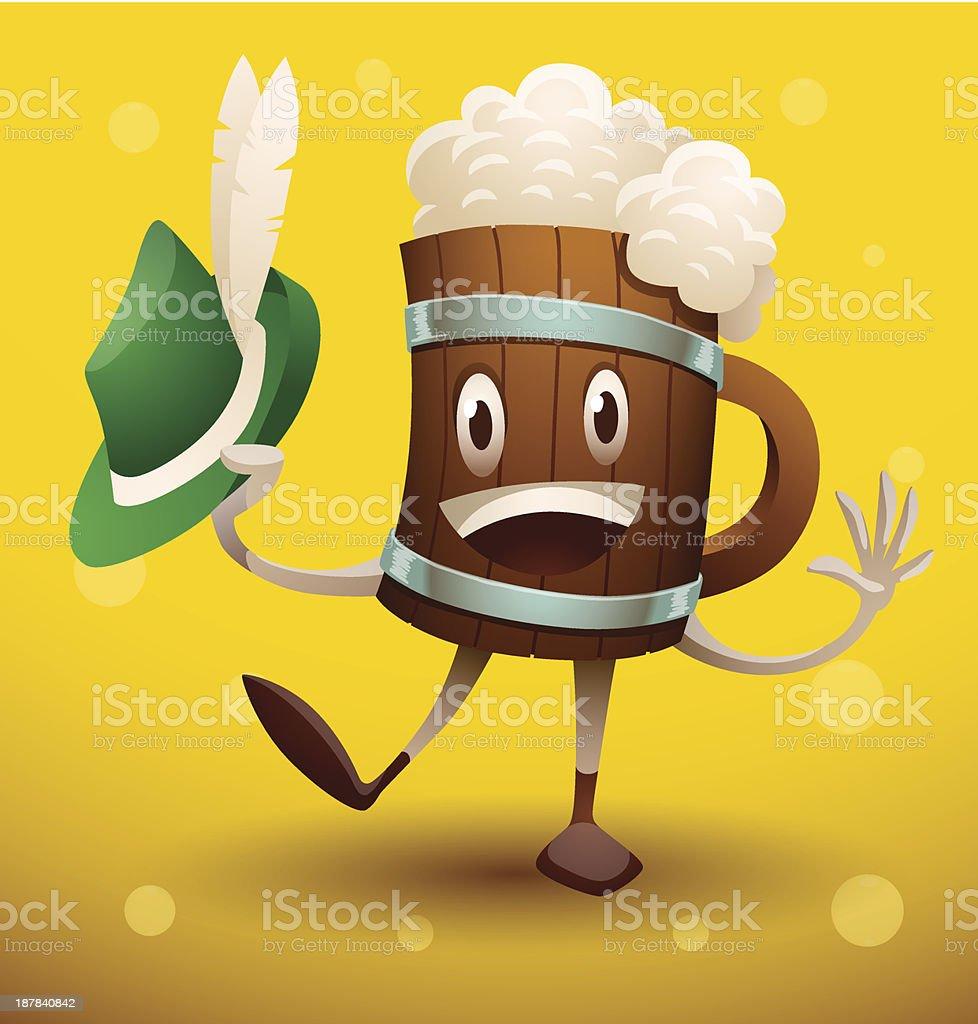 Mug of beer with a green hat royalty-free mug of beer with a green hat stock vector art & more images of alcohol