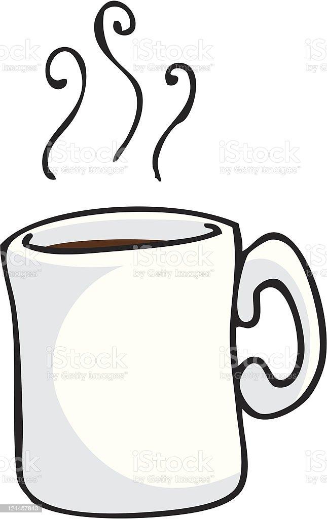 Mug with a Hot Drink vector art illustration