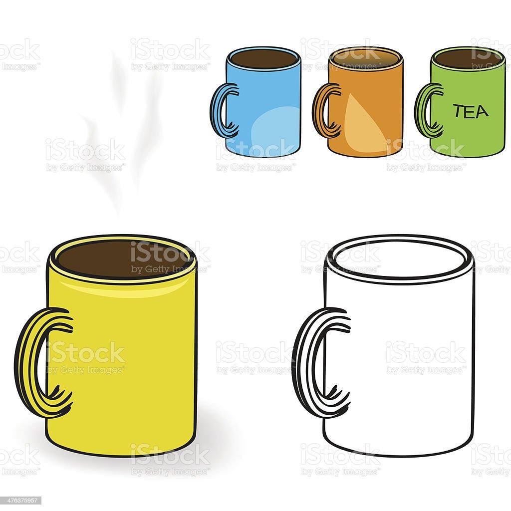 Mug with drink royalty-free stock vector art