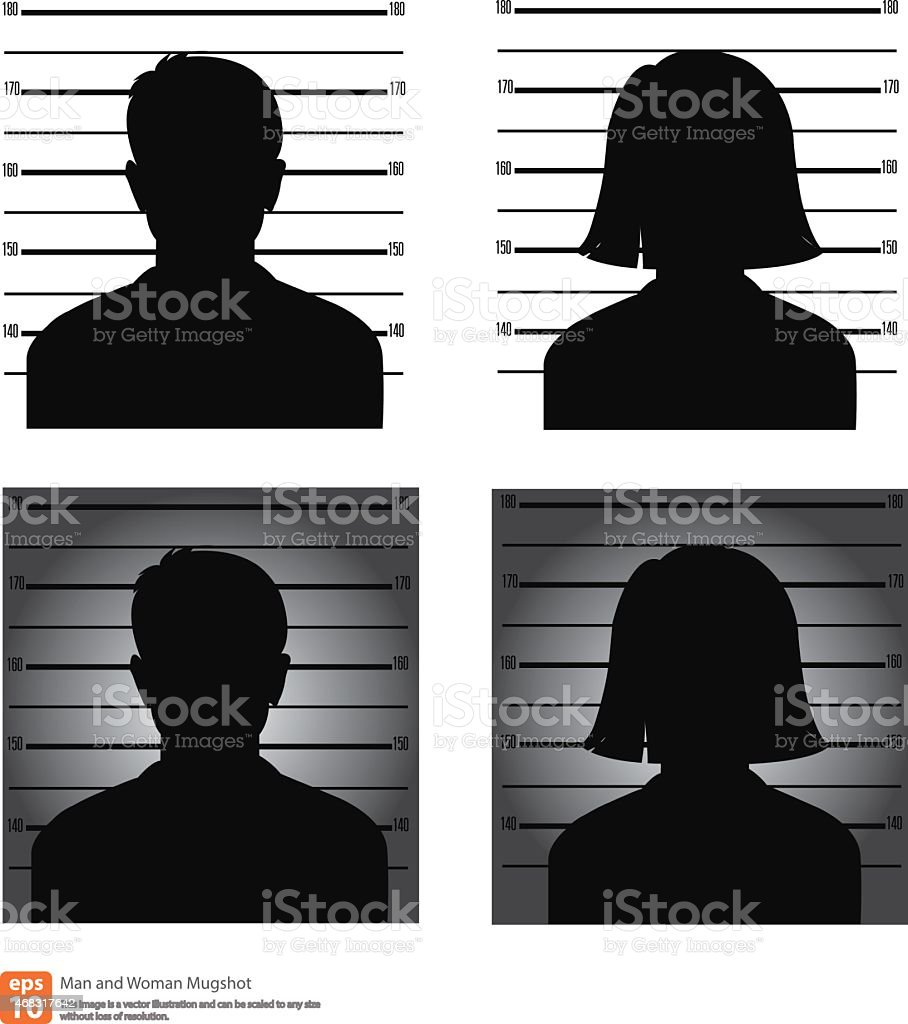 Mugshot vector art illustration