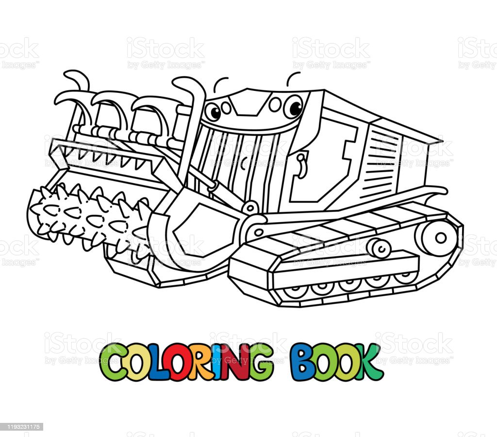 Mulcher Truck With Eyes Cars Coloring Book Stock Illustration Download Image Now Istock