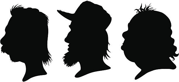 Mullet Silhouettes vector art illustration