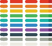 Multi color flat style up elements