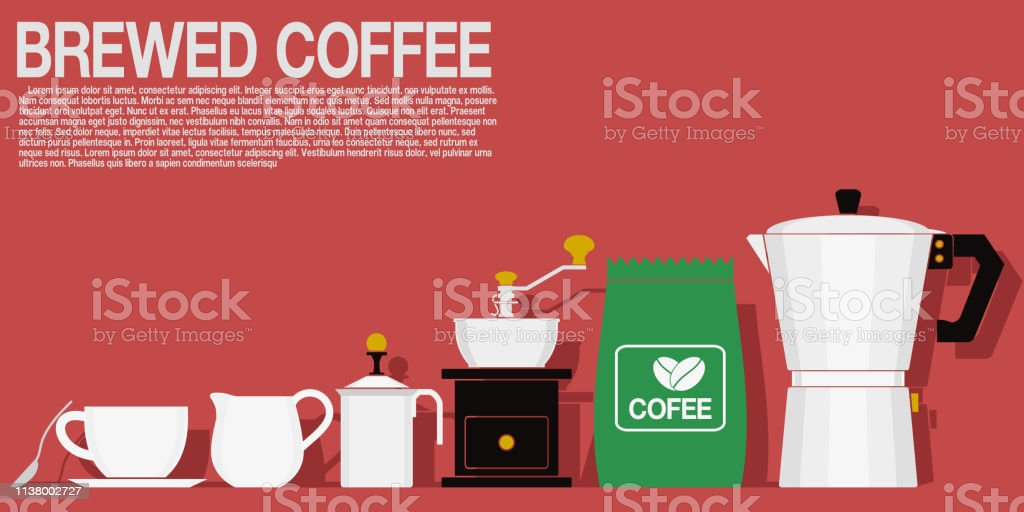 Multi color icon of Brewed coffee equipment