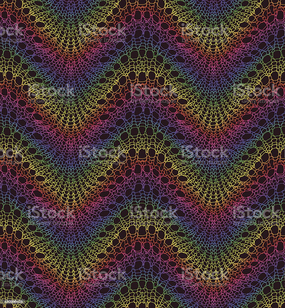 Multi color Knit Work. Seamless Pattern. royalty-free stock vector art