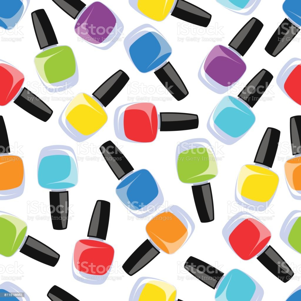 Multi Color Nail Polish Stock Vector Art & More Images of Adult ...