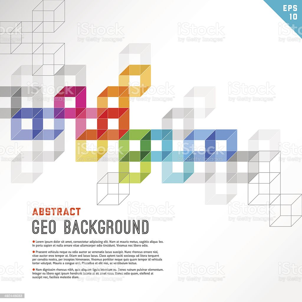 Multi Colored Abstract Background vector art illustration